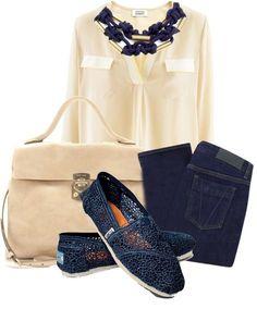 Toms Classics Crochet Navy Shoes for Women
