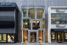Completed in 2018 in Kuala Lumpur, Malaysia. Images by Daria Scagliola and Edit - Stijn Brakkee. Bulgari's flagship store in Kuala Lumpur has opened with a new façade that imagines the luxury brand's heritage, and experiments with traditional. Kuala Lumpur, Commercial Architecture, Facade Architecture, Design Blog, Store Design, Facade Design, Exterior Design, Luxury Branding, Branding Design