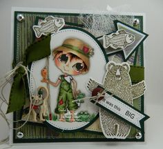 masculine card fisherman's tale.. by Leah Ann Gast