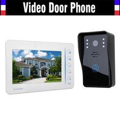 "7"" Touch Mointor Video Door Phone Intercom System Video Doorbell Doorphone Kit Support 4 Channel CCTV Camera"