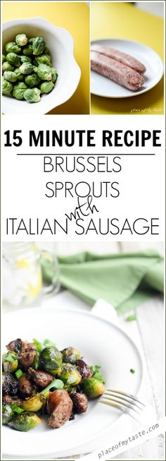 BRUSSELS SPROUTS WITH ITALIAN SAUSAGE