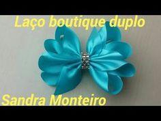Laço boutique duplo com pontas, Sandra Monteiro - YouTube
