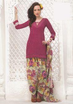 Gorgeous Pink Color Dress Material Printed Lawn Cotton Unstitched Salwar Kameez Suit D.no 4020 comfy!