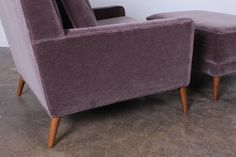Large Plum Velvet Upholstered Armchair And Ottoman With Oversized Chairs  Plus Furniture Chairs