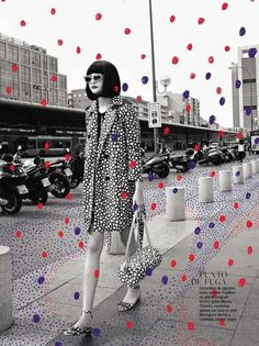 vuitton loves kusama:| glamour spain august 2012 // ugh european magazines know how to have fun with their design