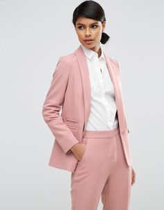 Buy it now. ASOS Premium Tailored Edge to Edge Blazer - Pink. Blazer by ASOS Collection, Woven stretch fabric, Padded shoulders, Shawl lapel, Open front, Pockets may be tacked, Centre vent to reverse, Slim fit - cut close to the body, Dry clean only, 93% Polyester, 7% Elastane, Our model wears a UK 8/EU 36/US 4 and is 175cm/5'9 tall. ABOUT ASOS COLLECTION Score a wardrobe win no matter the dress code with our ASOS Collection own-label collection. From polished prom to the after party, our…