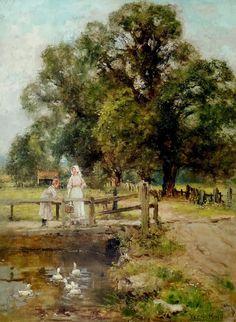 Feeding Time , artist Henry John Yeend King (1855-1924)