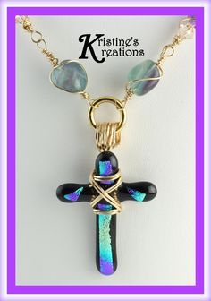 Black Rainbow Cross by DivaKreations on Etsy
