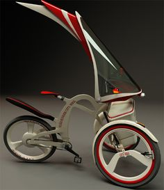 Innovative Roadrunner Trike : Three Wheeler Transporation with Electric Motor Rear Wheel - Tuvie Cool Bicycles, Vintage Bicycles, Bicycle For Two, Powered Bicycle, Electric Tricycle, Bike Style, Bicycle Design, Electric Motor, Bike Life