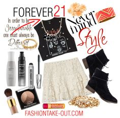 Crop tops...Lace shirts from FOREVER21...and more style from http://fashiontake-out.com