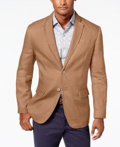 NWT Men/'s Tasso Elba Island Blazer Blue Two Button 100/% Linen Sportcoat Jacket