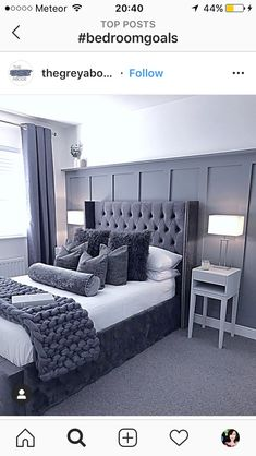 More bedroom inspiration from I love the first one. The second has made me rethink my attic space my husband has big plans for a games room but how amazing would this be as a guest bedroom 🛌 Room Ideas Bedroom, Dream Bedroom, Home Bedroom, Bedroom Decor, Bedroom Wall, Bedroom Color Schemes, Bedroom Colors, Best Online Furniture Stores, Furniture Shopping