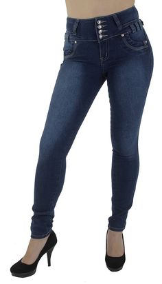 Style M1213- Colombian Design, High Waist, Butt Lift, Levanta Cola, Skinny Jeans at Amazon Women's Jeans store