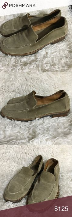 JOHN VARVATOS Suede Nubuck Stitch Slip On Loafers Size- 9.5  Condition- Have some signs of wear, light scratches and creasing on top, but plenty of life left.  Hand made in Italy John Varvatos Shoes Loafers & Slip-Ons