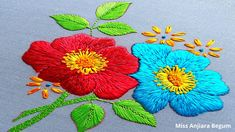 Hand Embroidery Videos, Hardanger Embroidery, Painting Videos, Silk Thread, Lana, Embroidery Designs, Kids Rugs, Needlepoint, Flowers
