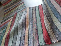Antique rustikaler Bauern Teppich Läufer von Linenandtextiles19th