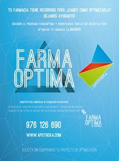 Descubre el programa #farmaoptima y encontraras todo lo que necesitas para  #optimizar tu #farmacia. llamanos 976 126 690, o entra en nuestra web www.apotheka.com. Visítanos en nuestras #redes #sociales #Facebook y #Twitter.