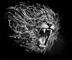 Lion by Kamila Sharipova, via Behance