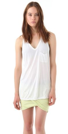 T by Alexander Wang Classic Tank with Pocket