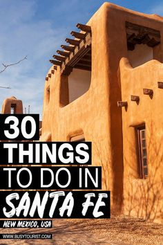 Wondering what to do in Santa Fe NM? This travel guide will show you the best attractions activities places to visit & fun things to do in Santa Fe New Mexico! Start planning your itinerary and bucket list now! Travel Tips Travel Hacks packing tour New Mexico Road Trip, Travel New Mexico, Road Trip Usa, New Mexico Vacation, Vacation Food, Us Travel Destinations, Places To Travel, Sante Fe New Mexico, Roswell New Mexico