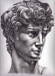 Michelangelo's David by Kate Powell Art