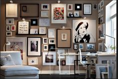 Wall Of Picture Frames Ideas of homes diana Ikea Wall Frame Ideas Home Design for skylight design Ikea Picture Ledge, Picture Wall, Picture Frames, Picture Lights, Ikea Pictures, Hang Pictures, Artwork Pictures, Ikea Wall, Room Decor