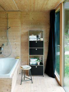 Meuble de rangement haut pour salle de bain - USM Haller - coloris noir