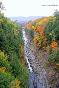 Check. #Quechee Gorge, known as #Vermont's Little Grand Canyon, in the #Fall