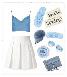 """Spring Break!"" by juliannasstyles ❤ liked on Polyvore featuring Boutique Moschino, Charter Club, Rebecca Minkoff, Monsoon, SO and Ray-Ban"