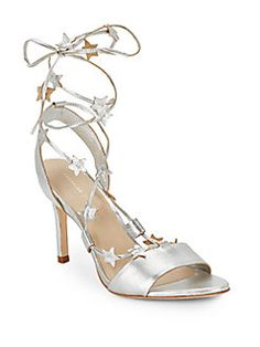 Loeffler Randall - Star-Detail Metallic Leather Sandals