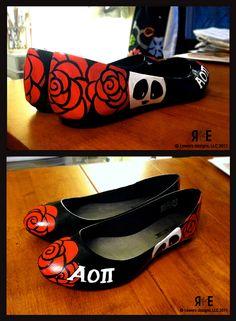 AOII custom design shoes!