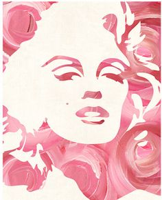 Marilyn Monroses Print from Cozamia, Marilyn Monroe, Marilyn Monroses, rose, roses, print, art, spring, decor, wall decor,