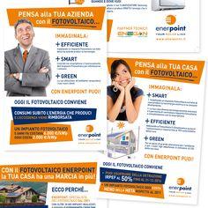 ENERPOINT - Flyer Promozionale Enerpoint con Enegan per Aziende e Privati Impaginazione grafica Creativa - fotoritocco
