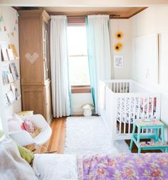 Freia's Cozy, Colorful Corner in the Master Bedroom — Nursery Tour | Apartment Therapy