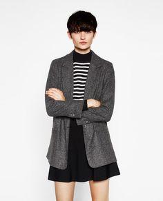 Image 2 de VESTE EN LAINE À CARREAUX de Zara