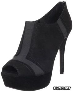 Jessica Simpson Women's Ray Bootie,Black Kid Suede,8 M US Jessica Simpson - PinBuy