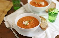 Roasted Summer Vegetable Soup - 5 Vegetarian Recipes that are Pure Summer Vegetable Goodness  http://2via.me/mDcqwFjL11