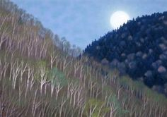 東山魁夷「月出づ」
