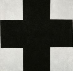 KASIMIR SEVERINOVICH MALEVICH Black Cross, 1923 Oil on canvas 41 7/10 × 41 9/10 in Russian State Museum, St. Petersburg, Russia