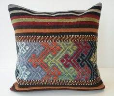 Turkish antique kilim pillow