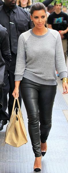 194t Crop Sweatshirt with Reverse Raglan - as seen on Kim Kardashian