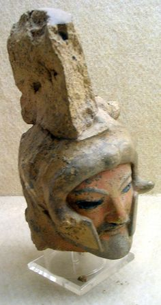 Helmeted head - Etruscan,6th cent. BCE