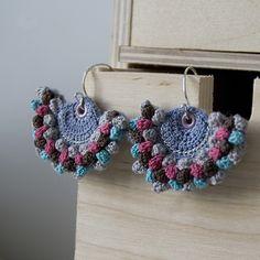 Crocheted Earrings. Pendientes de crochet.