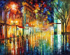 Scent of rain  PALETTE KNIFE Oil Painting On by AfremovArtGallery, $199.00