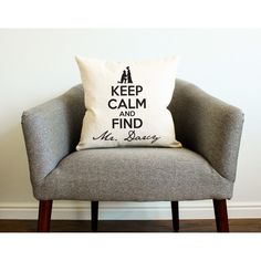 Keep Calm and Find Mr Darcy Pillow (1.060 RUB) ❤ liked on Polyvore featuring home, home decor, throw pillows, decorative pillows, grey, home & living, home décor, grey home decor, gray accent pillows and quote throw pillows