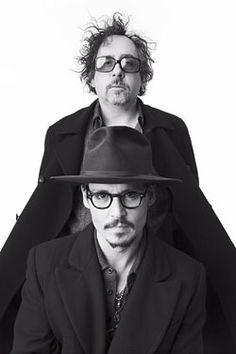 Johnny Depp & Tim Burton, portrait by Albert Watson. Film Tim Burton, Tim Burton Johnny Depp, Tim Burton Art, It's Johnny, Pose Portrait, Johny Depp, Sweeney Todd, Film Director, Best Actor