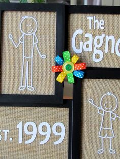 Personalized Family Photo Frame made with me & My Peeps Decals.  Love this!!