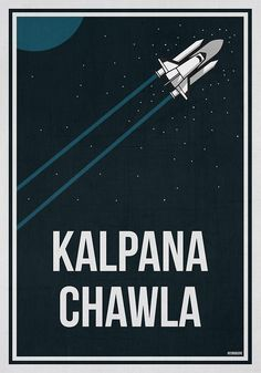 """KALPANA CHAWLA - Women In Science Wall Art"" by Hydrogene 