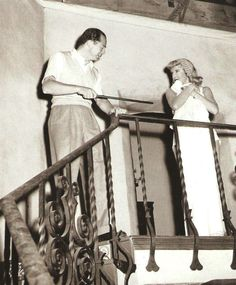 Billy Wilder & Barbra Stanwyck on set Double Indemnity Double Indemnity, Billy Wilder, Barbara Stanwyck, Most Popular Instagram, Great Films, Human Condition, Beautiful Love, Classic Films, Film Director