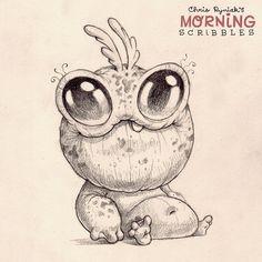 Froggy Finger ... #morningscribbles